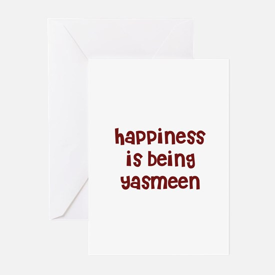 happiness is being Yasmeen Greeting Cards (Pk of 1