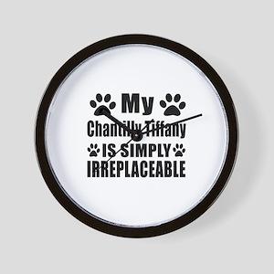 My Chantilly Tiffany cat is simply irre Wall Clock