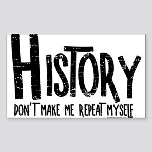 Repeat History Rough Text Sticker