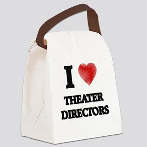 I love Theater Directors (Heart m Canvas Lunch Bag