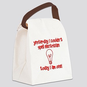 Funny Electrician Canvas Lunch Bag