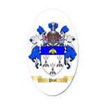 Peal Oval Car Magnet