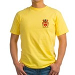 Peacocke Yellow T-Shirt