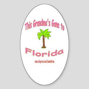 NANA OFF TO FLORIDA Oval Sticker