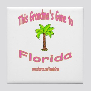 NANA OFF TO FLORIDA Tile Coaster