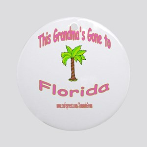 NANA OFF TO FLORIDA Ornament (Round)
