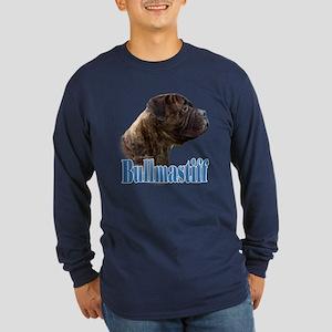 Bullmastiff(brindle)Name Long Sleeve Dark T-Shirt