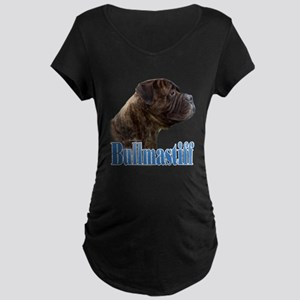 Bullmastiff(brindle)Name Maternity Dark T-Shirt