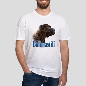 Bullmastiff(brindle)Name Fitted T-Shirt