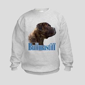 Bullmastiff(brindle)Name Kids Sweatshirt