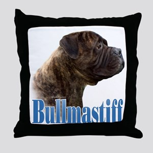 Bullmastiff(brindle)Name Throw Pillow