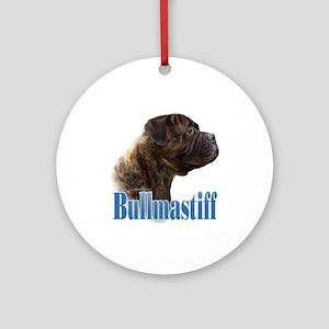 Bullmastiff(brindle)Name Ornament (Round)