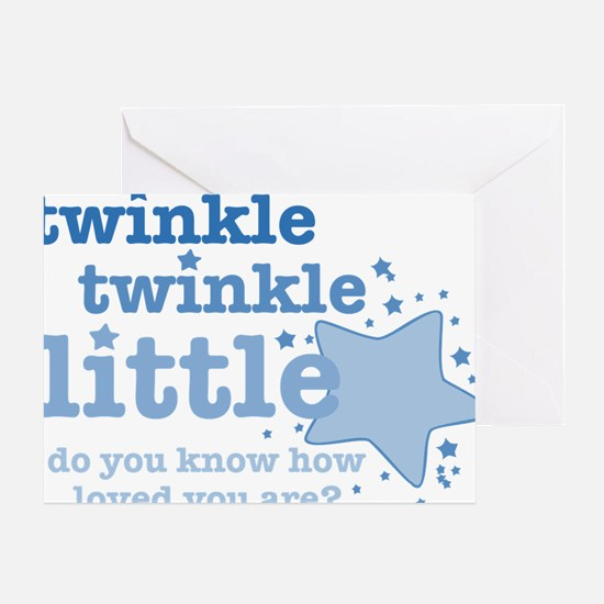 Twinkle Twinkle Blue Greeting Cards