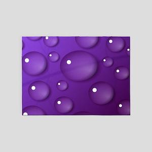 Purple Water Drop Pattern 5'x7'Area Rug
