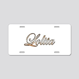 Gold Lolita Aluminum License Plate