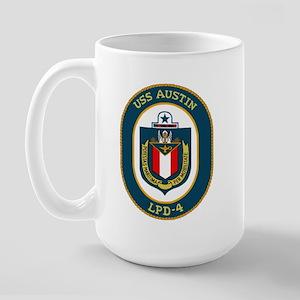 USS Austin (LPD 4) Large Mug