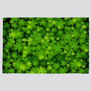 Beautiful Irish Shamrocks 4' x 6' Rug