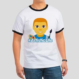Emoji Artist Life Hashtag Ringer T