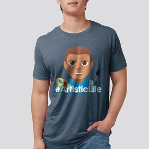Emoji Artist Life Hashtag Mens Tri-blend T-Shirt