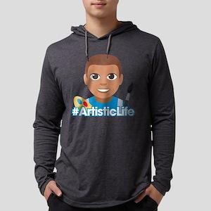 Emoji Artist Life Hashtag Mens Hooded Shirt