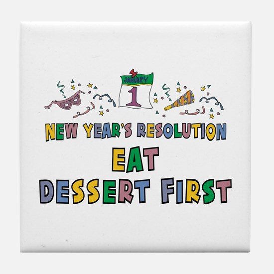 New Year's Resolution Tile Coaster