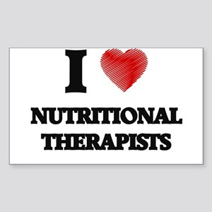 I love Nutritional Therapists (Heart made Sticker