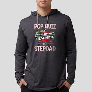 Pop Quiz Step Dad Best Teacher Mens Hooded Shirt