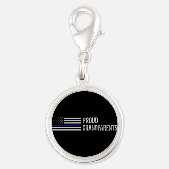 Police: Proud Grandparents Silver Round Charm