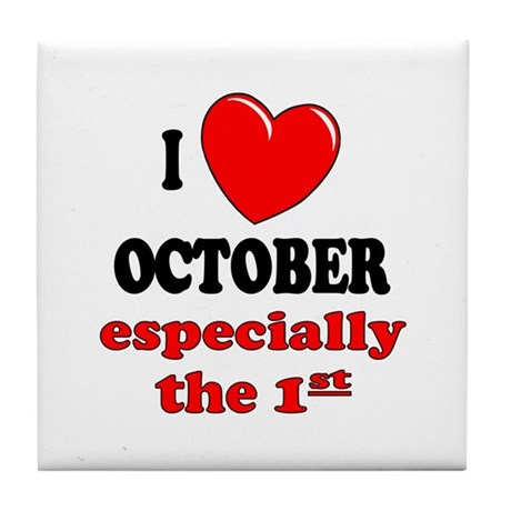October 1st Tile Coaster