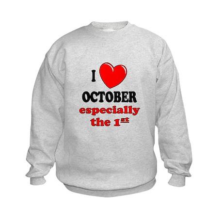 October 1st Kids Sweatshirt