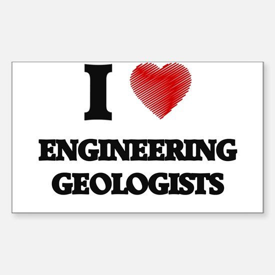 I love Engineering Geologists (Heart made Decal