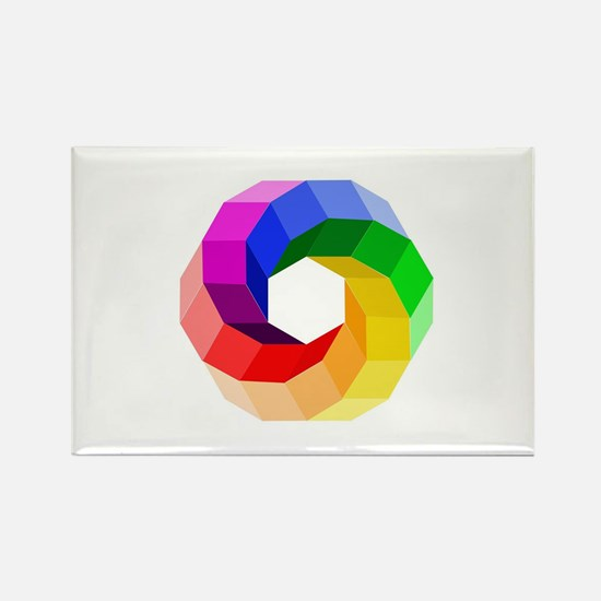 Color wheel- the sever colors of rainbow Magnets