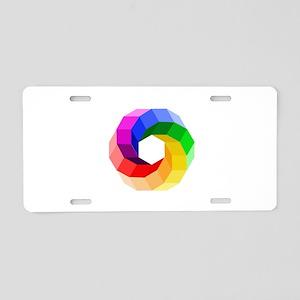 Color wheel- the sever colo Aluminum License Plate