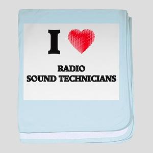 I love Radio Sound Technicians (Heart baby blanket