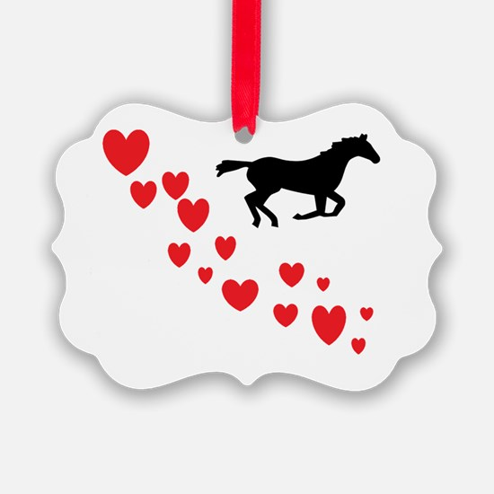 Cute Horse love Ornament