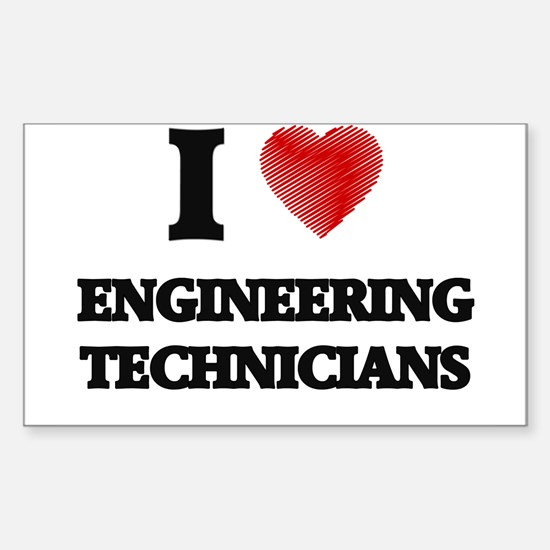 I love Engineering Technicians (Heart made Decal
