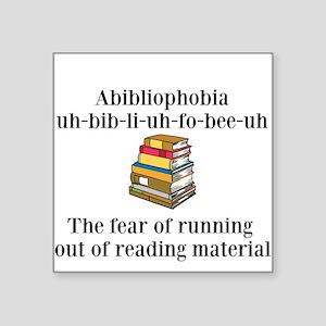Abibliophobia Sticker