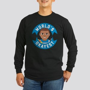 Emoji Worlds Okayest Arti Long Sleeve Dark T-Shirt