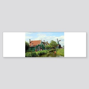 Dutch windmill village, Holland Bumper Sticker
