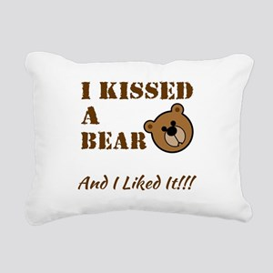 I Kissed A Bear! Rectangular Canvas Pillow