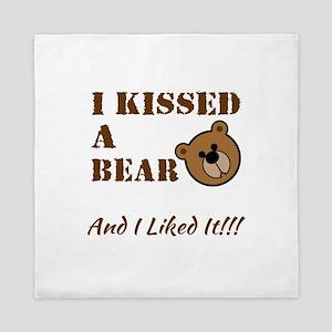 I Kissed A Bear! Queen Duvet