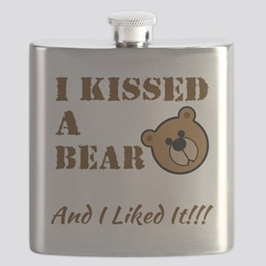 I Kissed A Bear! Flask