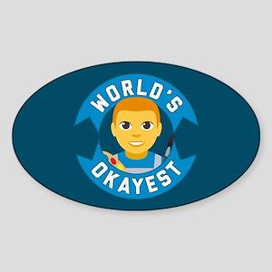 Emoji Worlds Okayest Artist Sticker (Oval)