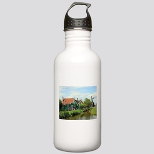 Dutch windmill village Stainless Water Bottle 1.0L