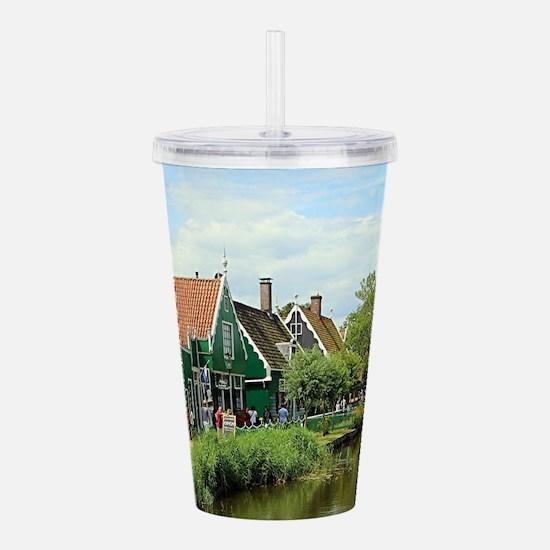 Dutch windmill village Acrylic Double-wall Tumbler