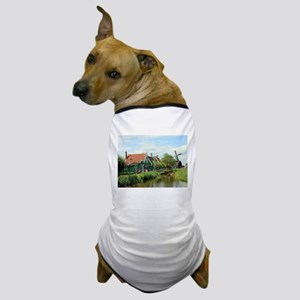 Dutch windmill village, Holland Dog T-Shirt