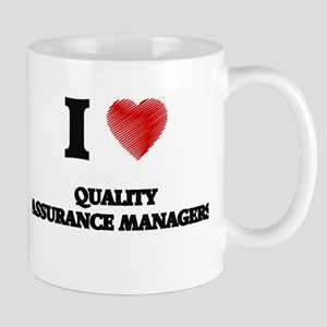 I love Quality Assurance Managers (Heart made Mugs