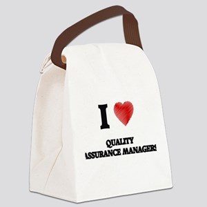 I love Quality Assurance Managers Canvas Lunch Bag