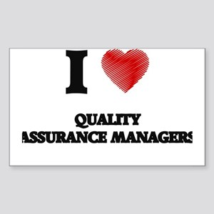 I love Quality Assurance Managers (Heart m Sticker