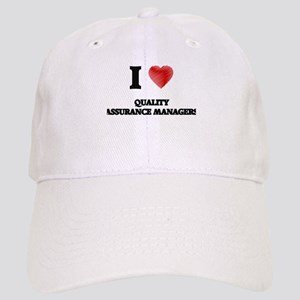 I love Quality Assurance Managers (Heart made Cap